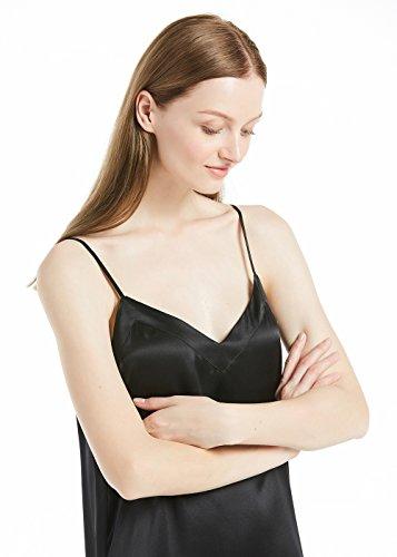 Seide Kleider Lo Damenmode Trägerkleider Damen Schwarz 22 Hi Cocktailkleider Momme LilySilk 7A5qwdA