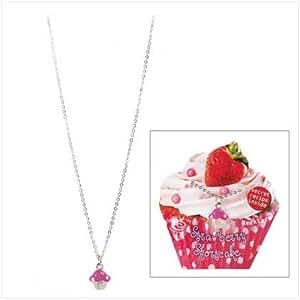 Strawberry shortcake cupcake charm fashion for Strawberry shortcake necklace jewelry