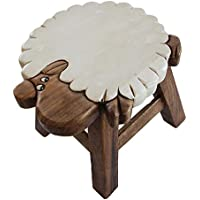 Madewin Manual Sculpture Hand-painted Wooden Bench Handmade Animal Bench (Sheep3)