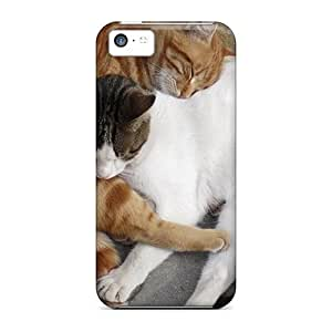 5c Scratch-proof Protection Cases Covers For Iphone/ Hot Sleeping Cat Pals Phone Cases