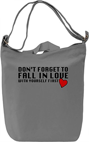 Fall In Love With Yourself Borsa Giornaliera Canvas Canvas Day Bag| 100% Premium Cotton Canvas| DTG Printing|