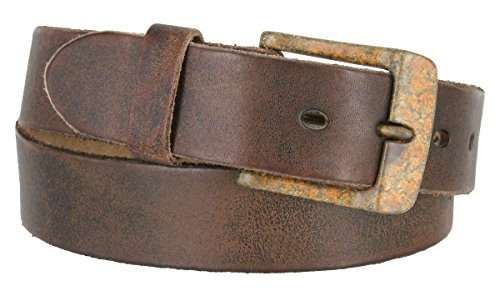 Fullerton 384002-A0023 Genuine Full Grain Vintage Distressed Leather Belt Strap 1-1/2