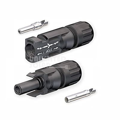 Solar Panel Original Mc4 Multi-contact Solar Connectors - Ul - For 8 AWG Wire - Original Mc4 ! ...