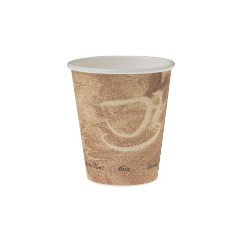 Solo 376MS-0029 Single-Sided Poly Paper Hot Cup, 6 oz. Ca...