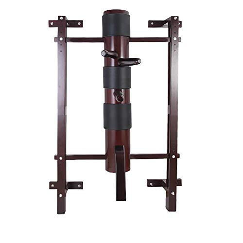Wing Chun Wooden Dummy Mook Yan Jong - Traditional IP Man Solid Wooden Dummy with Adjustable Wall Mounted Stand M012