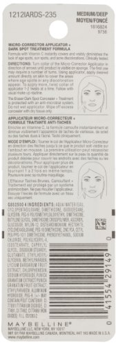 Maybelline New York Instant Age Rewind Eraser Dark Spot Concealer Plus Treatment, Medium/Deep, 0.2 Fluid Ounce