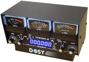 Radio Cb Mic Wiring (Dosy TFB-3001-S 3 Meter In-Line Wattmeter with Black Meters & Frequency Counter)