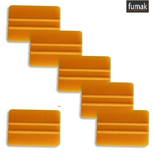 Fumak 10ピース 3M カーボンファイバー ゴールド スクイージー スクレーパー ビニールフィルム カーラップツール カーステッカー 取り付けツールキット ウィンドウティントツール B07L85LP9M