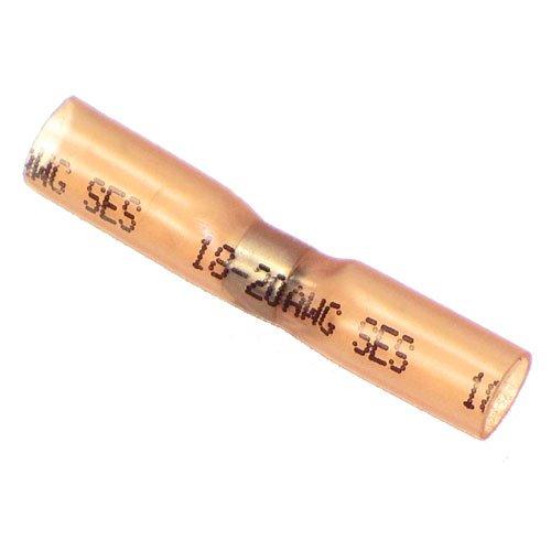NEF Heat Shrink Solder Electrical Butt Connectors, Red 22-18 gauge, 25 Pack