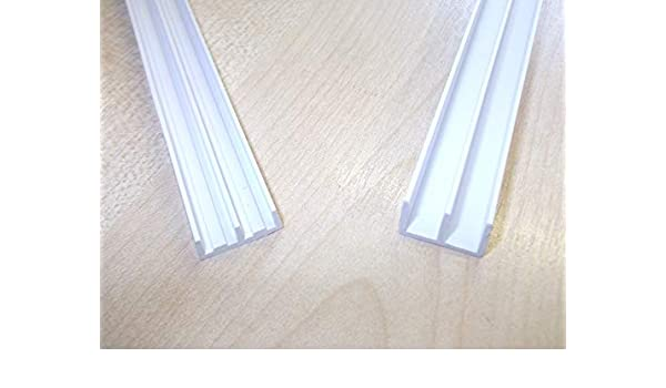Innovo - Guías de Cristal para rieles de viario de 6,0 mm 250 mm ...