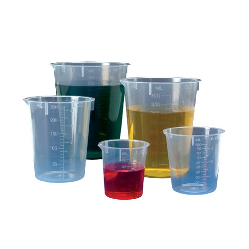 Image of Beakers Biomedical Polymers BMP-BK-50 Polypropylene Disposable Beakers, 50 mL (Pack of 1000)