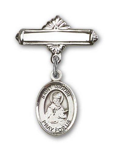 Icecarats Créatrice De Bijoux En Argent Sterling St. Isidore De Broche De Badge Charme Seville 1 X 5/8