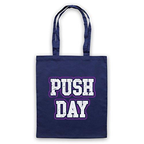 Push Day Bodybuilding Workout Slogan Bolso Azur Marino
