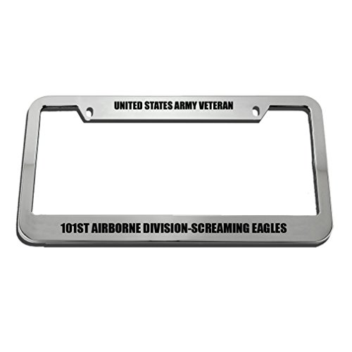 Speedy Pros United States Army Veteran 101St Airborne -Screaming Eagles License Plate Frame by Speedy Pros