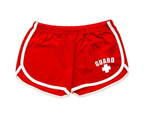 BLARIX Womens Guard Shorts (Red, Medium)