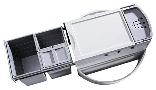 Hailo 3645121 Abfallsammler Rondo 90.3/35 für Diagonal-Eckspülenschränke ab 900 mm Breite