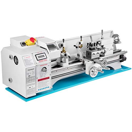 Mophorn Metal Lathe 8.7 x 29.5 Inch/220 x 750MM Mini Metal Lathe 1.1KW Infinitely Variable Speed Mini Lathe Machine LED Screen for Counter Face Turning Driling