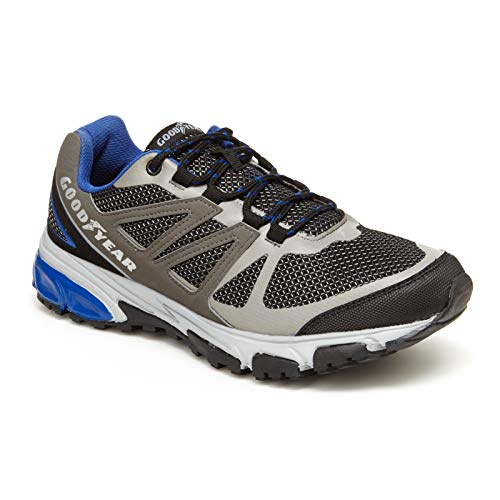 Goodyear Low Top Men's Hiking Boots, Hiking Shoes for Men Grey/Royal ()