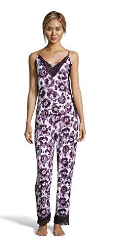 Ivory Lounge Set - Nanette Nanette Lepore Women's Lace Trim Cami Tank Top and Pajama Pants Sleep Set Ivory X-Large