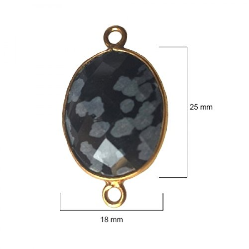 Snowflake Obsidian Oval 18X25mm by BESTINBEADS I Snowflake Obsidian Oval Bezel I Snowflake Obsidian Oval Pendant Pendant Gold I Bezels Connectors I Snowflake Obsidian Oval Cabochon