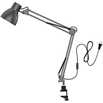 Architect style clamp on base desk lamp drafting table lamp tojane swing arm desk lamparchitect table clamp mounted light flexible arm drawingofficestudio table lampgrey metal finish aloadofball Gallery