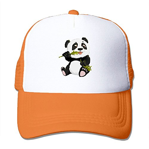 fan products of Antonia Surrey Funny Panda Bear Love Basketball Baseball Cap Stretch Fit Cap Vintage Hat Baseball Cap Dyed Cap Clean Up Adjustable Hat Orange