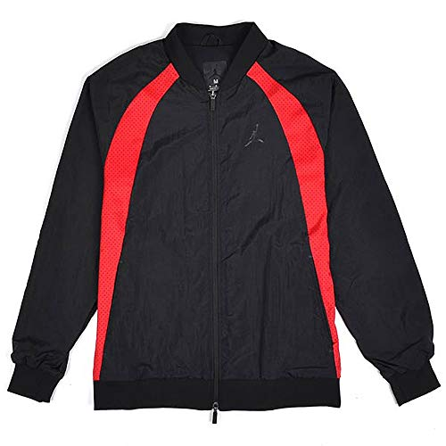 (NIKE Air Jordan Mens Wings Muscle Jacket Bred Black/Red (X-Large))