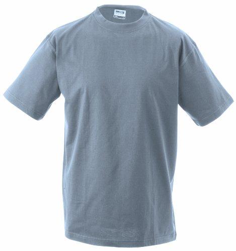 S t Cuello Talla Single manga Estampado heavy para corta Camiseta redondo jersey Camiseta Gris de hombre Round 5xl brezo qgfZEA