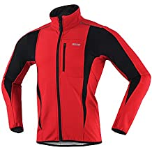 ARSUXEO Winter Warm UP Thermal Softshell Cycling Jacket...
