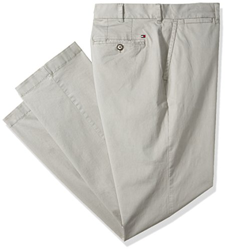 (Tommy Hilfiger Men's Big and Tall Classic Fit Stretch Chino Pants, Drizzle R, 42X32)