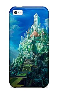 Hot Nice Castle First Grade Tpu Phone Case For Iphone 5c Case Cover