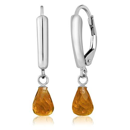 Citrine Briolette Earrings - 8