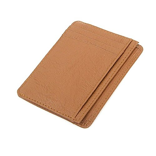 leather-slim-wallet-women-men-credit-card-sleeve-case-id-holder-b-brown