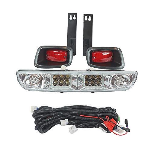 3G Clear LED Super Saver Light Bar Kit for EZGO TXT & Medalist Golf Cart 1994-2013