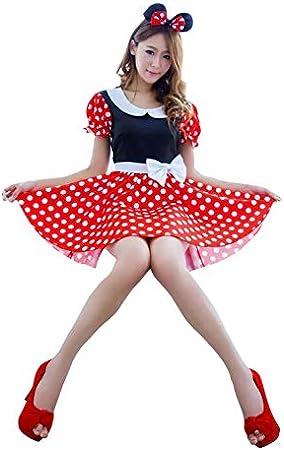 thematys® Mini Vestido para ratón de Minnie Mouse con Lunares ...