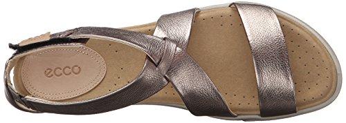 ECCO Damara Sandal - Sandalias de tobillo Mujer Plateado (WARM GREY METALLIC54893)