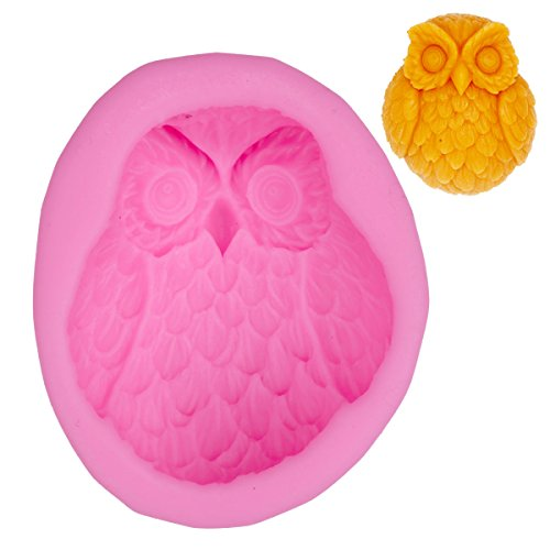 CHICTRY 3D Owl Shape Mold Craft Art Handmade Soap Mold Silicone Fondant Chocolate Baking Mold DIY Cake Decorating Tools for Halloween Christmas Party Decoration for $<!--$7.99-->