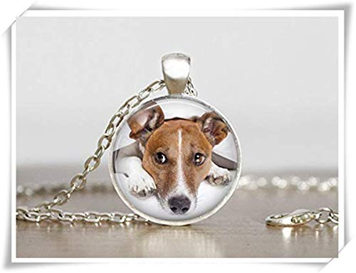 (memory Your Jack Russell Terrier Dog's Photo on a Necklace,Pure Handcrafted, Dog Lover's Gift)