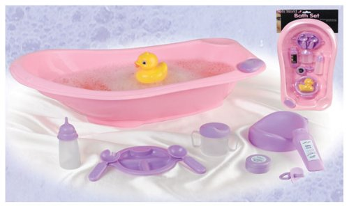 Amazon.com : Schylling Baby Doll Bath Tub Set : Bathtub Toys : Baby