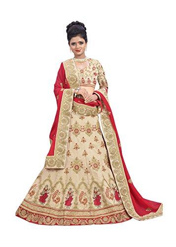 Indian Designer Partywear Ethnic Traditional Light Cream Lehenga Choli by Dessa Collections