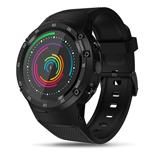 Android Smartwatch, Super AMOLED Display Smartwatch 1GB+16GB 4G Smartwatch Dual Camera Fitness Tracker for Men and Women LTE GPS Pedometer