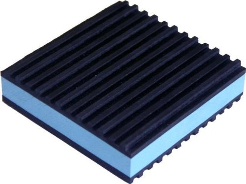 4 Pack of Anti Vibration Pads 4'' x 4'' x 7/8'' All Purpose Super Duty Blue Composite foam Vibration isolation pads