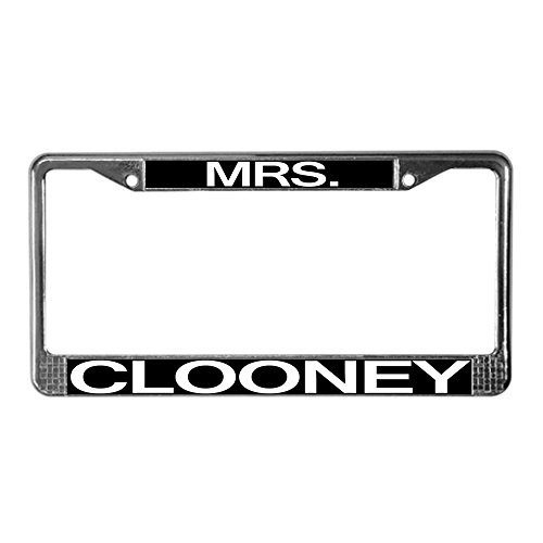 CafePress - Mrs. Clooney License Plate Frame - Chrome License Plate Frame, License Tag - Pitt Brad Married