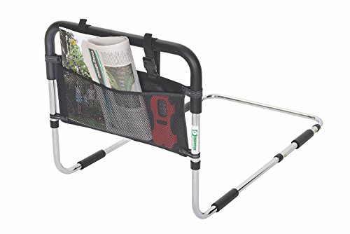 Essential Medical Supply Height Adjustable Hand Bed Rail with Three Pocket Pouch by Essential Medical Supply