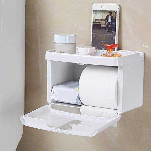Zxyan ティッシュケース おしゃれ ホルダー 浴室防水ティッシュボックス1個ホーム浴室防水無料パンチティッシュホルダートイレットペーパー棚ケースボックスペーパーホルダー おもしろ 卓上 収納 便利 インテリア 家庭事務室に適しています