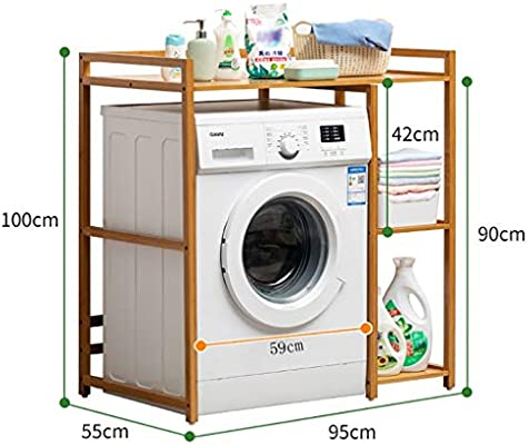 Machine shelf Estante for lavadora de madera de bambú, balcón ...