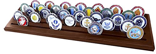 DECOMIL Poker Chips and Military Collectible Challenge Coin Holder Rack (Large, 5 Rows) by DECOMIL