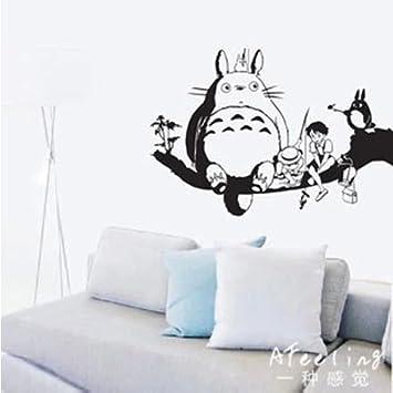 Dessin animé japonais totoro stickers muraux autocollant décor mural décoration maison