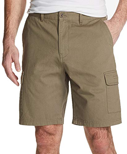 Weatherproof Vintage Mens Flat Front Classic Cargo Shorts Green ()