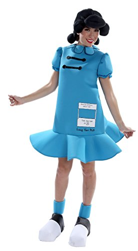 Palamon Women's Peanuts Lucy Costume, Blue,